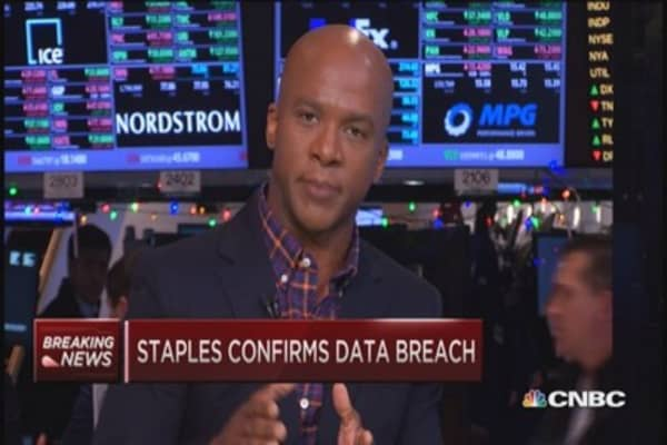 Staples confirms summer data breach
