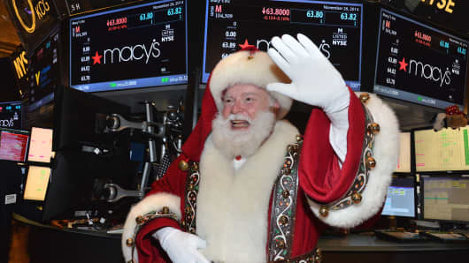 Santa Claus at the New York Stock Exchange