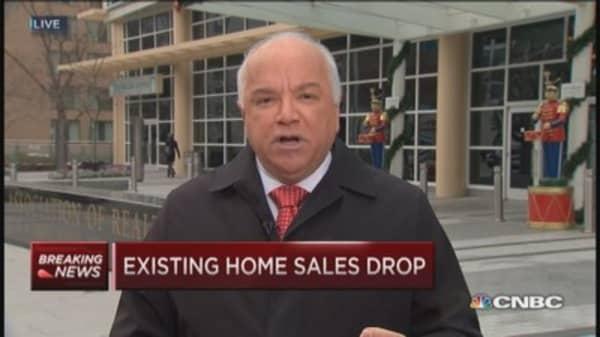 November existing home sales drop 6.1%