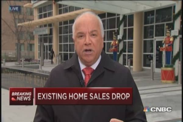November existing home sales drop 6.1%