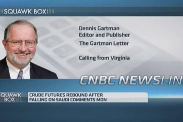 Crude oil price hasn't seen its lows yet: Gartman