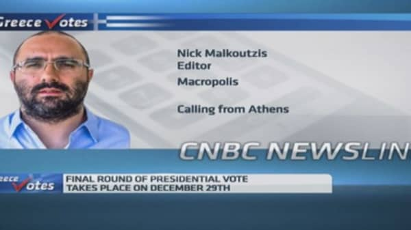 Greek PM Samaras' challenges in presidential election