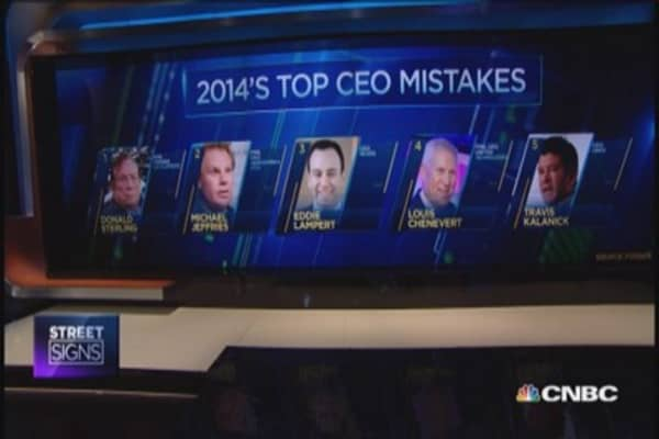 Top CEO mistakes of 2014