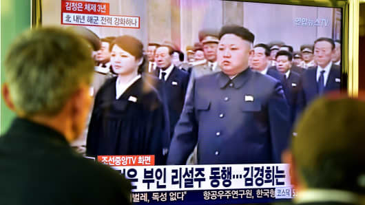 TV footage showing North Korean leader Kim Jong-Un attending a ceremony marking the third anniversary of late leader Kim Jong-Il's death on December 17, 2014.