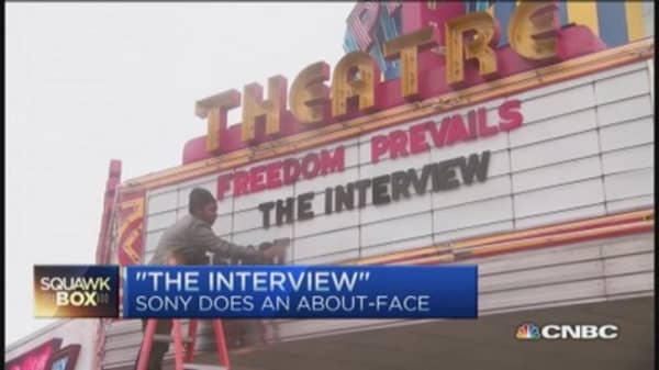 Sony does about-face on 'The Interview'