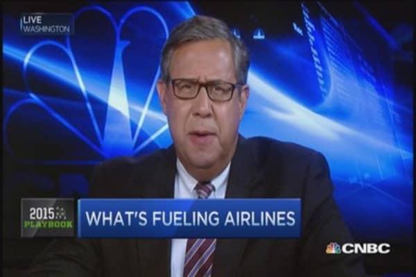 Airline stocks flying high