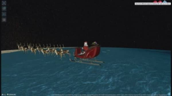 NORAD tracks Santa's sleigh