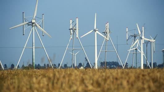 Wind power station, Schleswig-Holstein, Germany