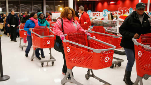 Shoppers at a Target store in Chicago
