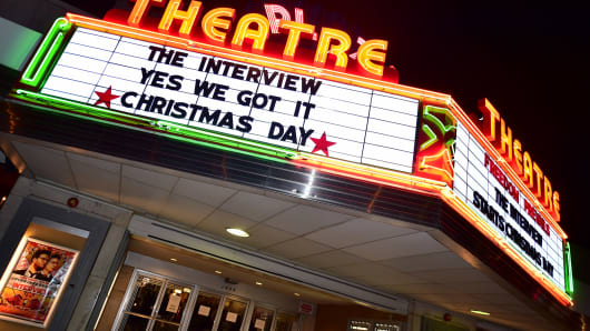 Sony Pictures' release of 'The Interview' at the Plaza Theater on, Christmas Day, December 25, 2014 in Atlanta, Georgia