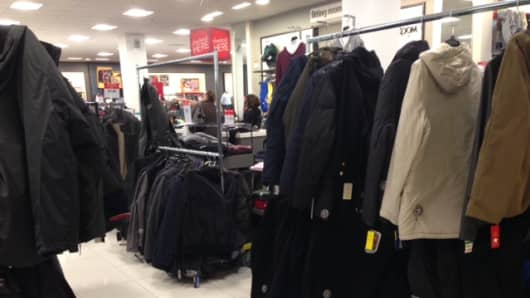 Very picked over racks at department stores post Christmas harkens back to the strong spending of 2005-2007.
