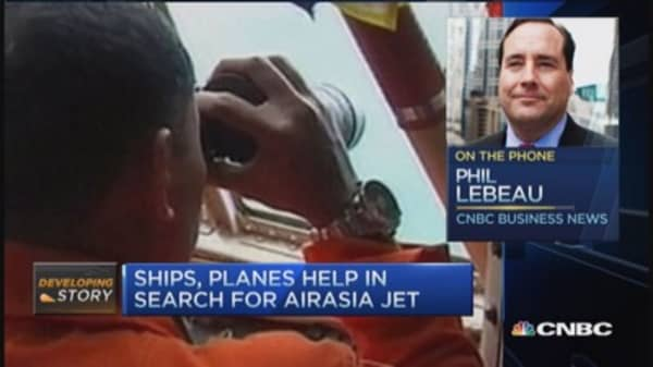 Search underway for AirAsia plane