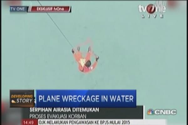 AirAsia wreckage found in water