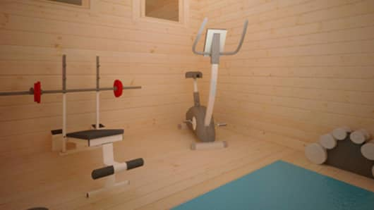 The ZFC-1 includes a home gym so you can be in peak physical form when the zombies arrive.