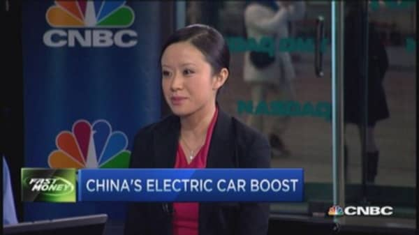 China's electric car boost