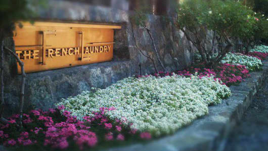 The French Laundry restaurant in Yountville, Calif.