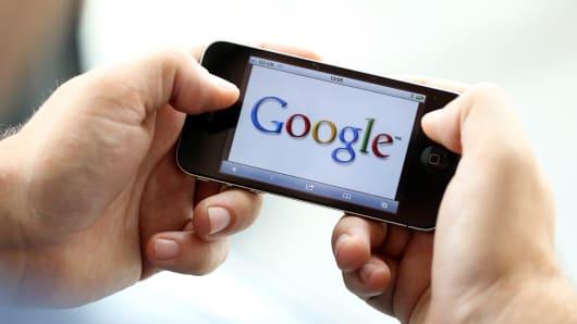 Google on smart phone mobile