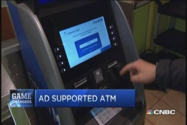 Watch ad, avoid ATM fees