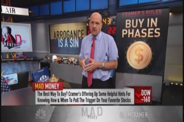 Cramer: Buy in increments