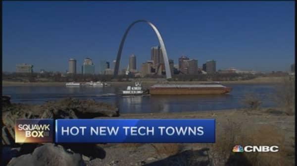Hot tech towns USA