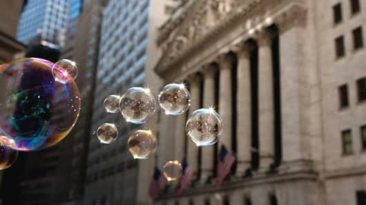 stock market bubble, wall street bubble