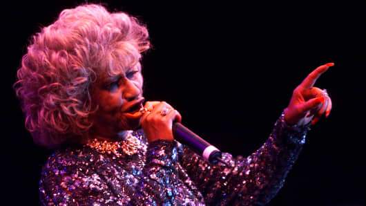 Celia Cruz at the Music Midtown Festival in Atlanta, Georgia on May 7th, 2000.