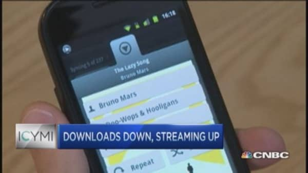 Downloads down, streaming up