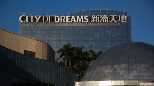The City of Dreams complex, operated by Melco Crown Entertainment, in Macau.