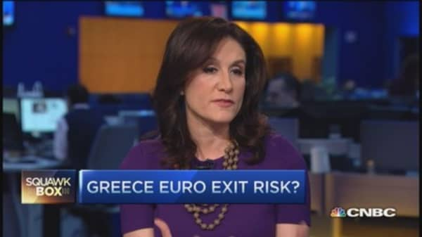 Risk of Greece euro exit