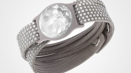 "Solar-powered ""energy crystals"", the first wearable partnership from Misfit and Swarovski."