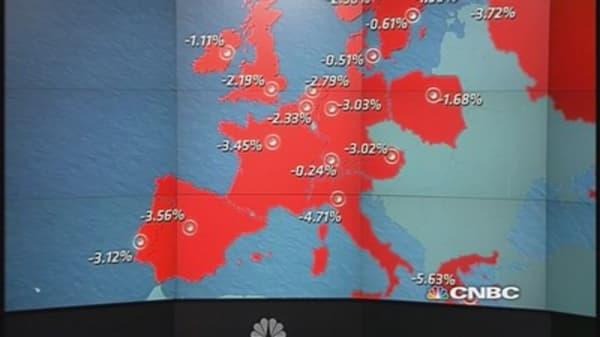 European stocks close sharply lower, led by energy