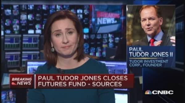 Sources: Paul Tudor Jones closes futures fund, redeems money