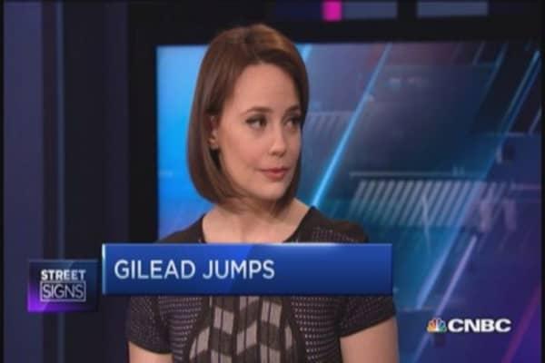 Gilead pops, AbbVie drops