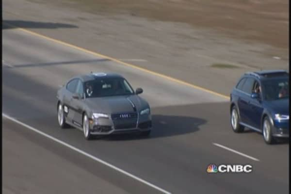 Test driving Audi's autonomous A7