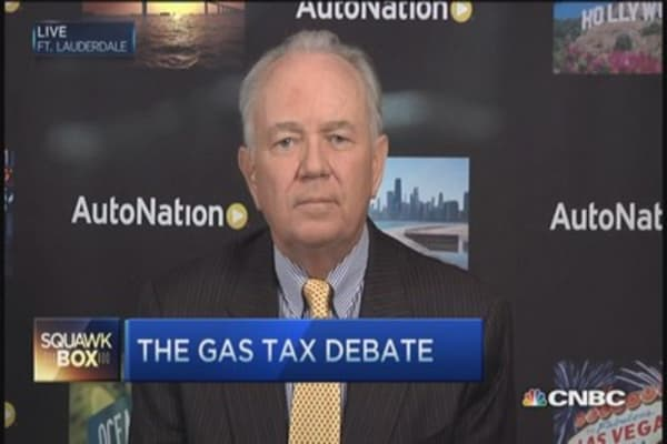 Gas tax makes sense: AutoNation CEO
