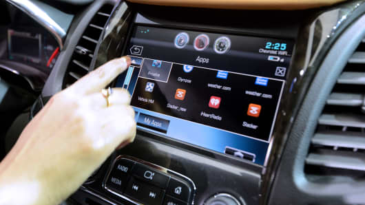 OnStar's 4G LTE dash system is displayed on a Chevrolet Impala.