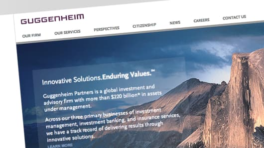 Guggenheim Partners home page
