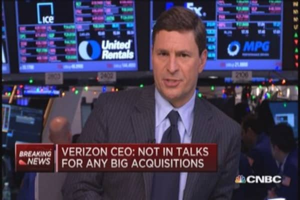 Verizon CEO on AOL: Not in acquisition talks