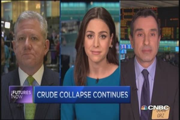 Futures Now: Crude hits multi-year low