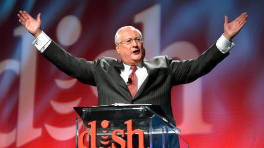 Joe Clayton, CEO of Dish, speaks at the International Consumer Electronics show in Las Vegas, January 5, 2015.