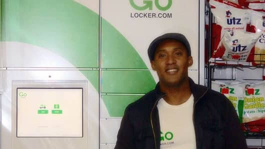 Nigel Thomas left a software engineer career to soft launch his business, GoLocker, in New York City.