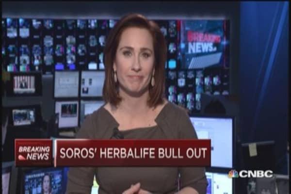 Soros' Herbalife bull out