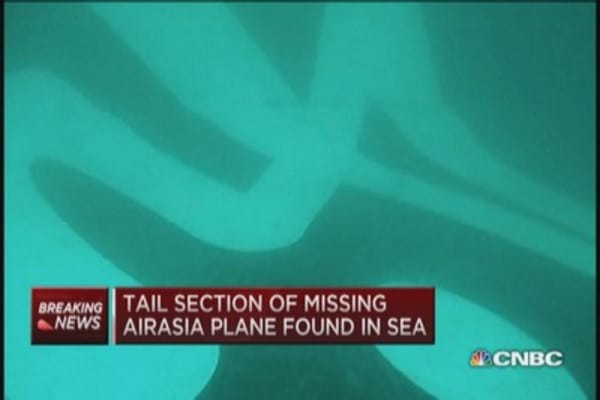 Missing AirAsia jet tail section found