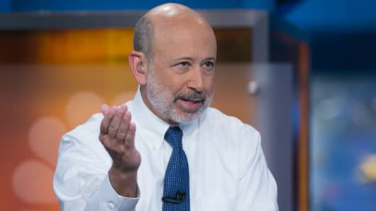 Lloyd Blankfein joins Squawk Box on the first day at their new studio in New York City.