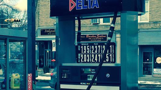 Gas prices in South Orange, N.J., Jan. 7, 2015.