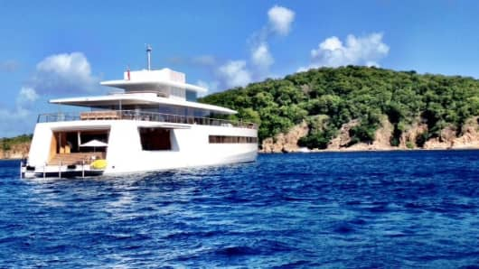 The stern of Steve Jobs' Venus. Insiders say its real beauty is inside the yacht.