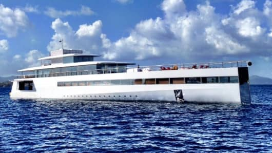 A side view of the Steve Jobs' Venus yacht.