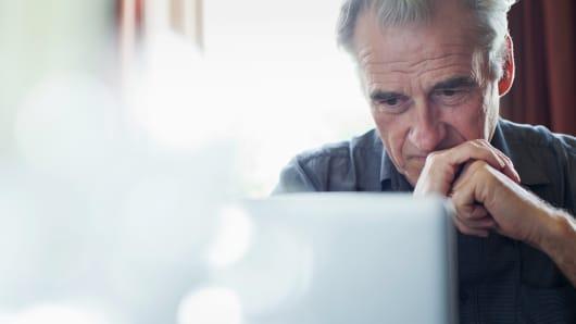 Retirement worried senior