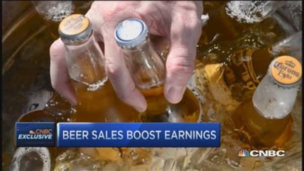 Constellation: Beer & spirits grow, wine slower