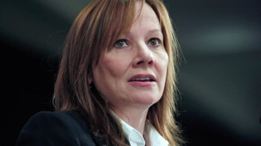 General Motors Chief Executive Officer Mary Barra